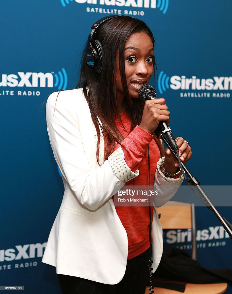 Kayla Brianna performs at SiriusXM Studios on February 28, 2013 in New York City.