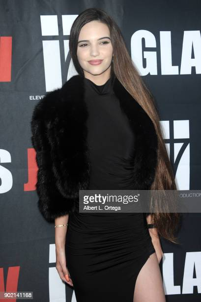 Kayla Gatsby arrives for the premiere of 'Glass Jaw' held at Universal Studios Hollywood on November 9 2017 in Universal City California