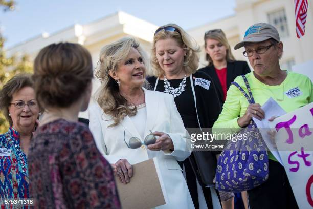 Kayla Moore wife of Roy Moore arrives for a 'Women For Moore' rally in support of Republican candidate for US Senate Judge Roy Moore in front of the...
