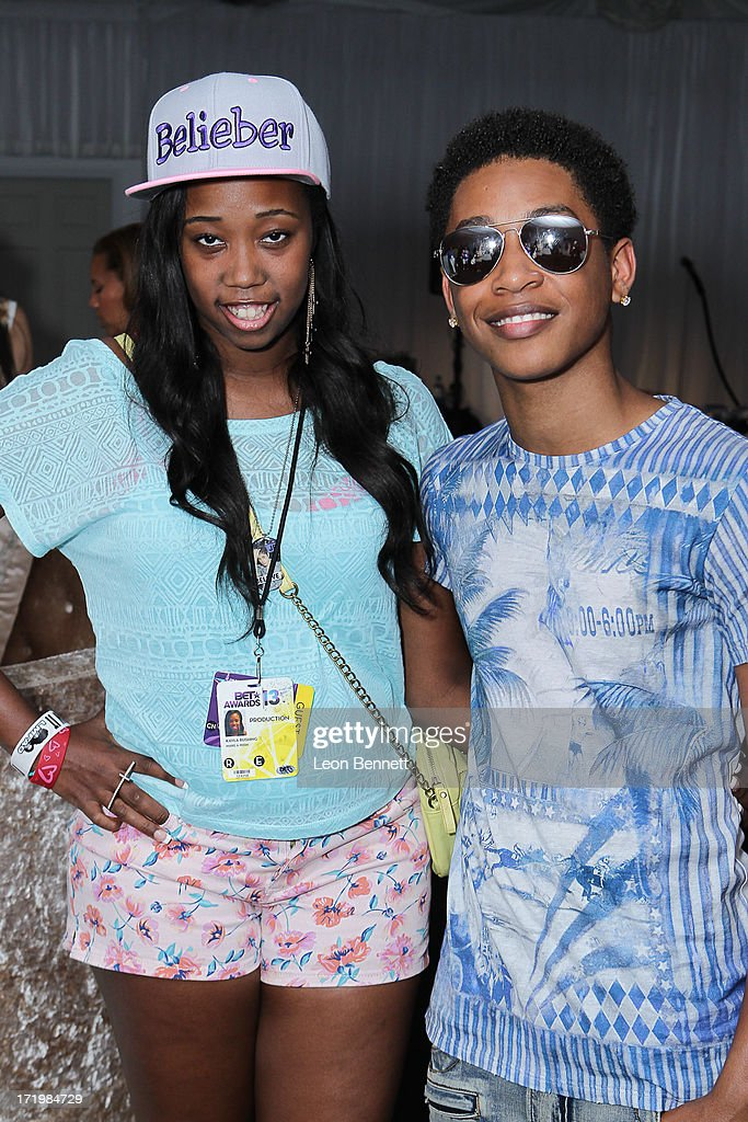 Kayla Rushing and Jacob Latimore attended the BET & Make A Wish Foundation Recipient Kayla Rushing's Wish To Attend BET Awards Weekend at on June 29, 2013 in Los Angeles, California.