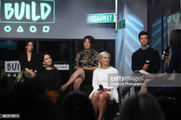 Kayla Sanders Randi Zuckerberg Ari Horie Gretchen Carlson and Brett Huneycutt speak at Gretchen Carlson's Be Fierce Tech Panel at Build Studio on...