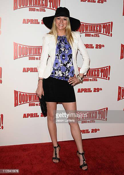 Kayla Tabish attends the premiere of Hoodwinked Too Hood Vs Evil at Pacific Theatre at The Grove on April 16 2011 in Los Angeles California