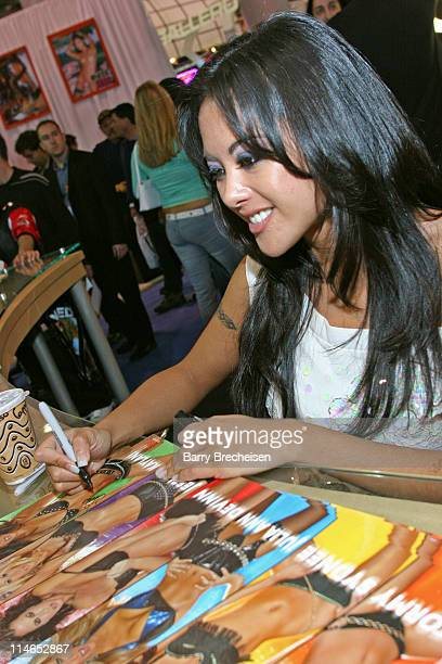 Kaylani Lei signing at the Wicked Pictures booth during 2005 AVN Adult Entertainment Expo at Sand Expo Center in Las Vegas, Nevada, United States.