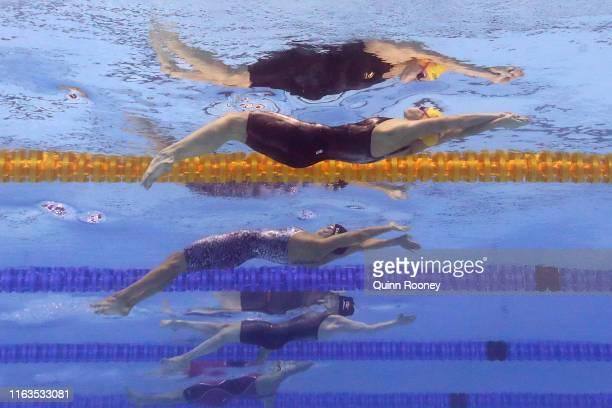 Kaylee McKeown of Australia competes in the Women's 100m Backstroke Semifinal on day two of the Gwangju 2019 FINA World Championships at Nambu...