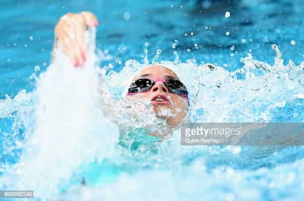 Kaylee McKeown of Australia competes in the Women's 100m Backstroke during the 2017 Australian Swimming Championships at the Sleeman Sports Complex...