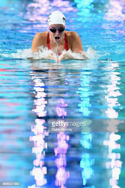 Kaylee McKeown of Australia competes in the Women's 200m Individual Medley during the 2017 Australian Swimming Championships at the Sleeman Sports...