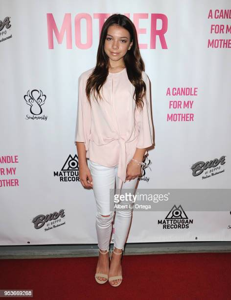 Kaylee Quinn arrives for a luncheon in honor of Mother's Day for the release of Pamela L Newton's 'A Candle For My Mother' held at Los Angeles Film...