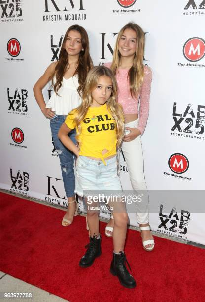 Kaylee Quinn CoCo Quinn and Rihanna Quinn attend the dance video release party For Florets at Victory Theatre on May 30 2018 in Burbank California