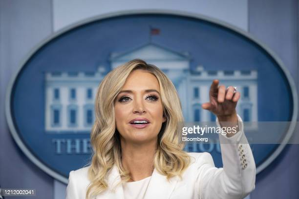 Kayleigh McEnany White House press secretary speaks during a briefing in Washington DC US on Wednesday May 6 2020 McEnany promised she'll never lie...