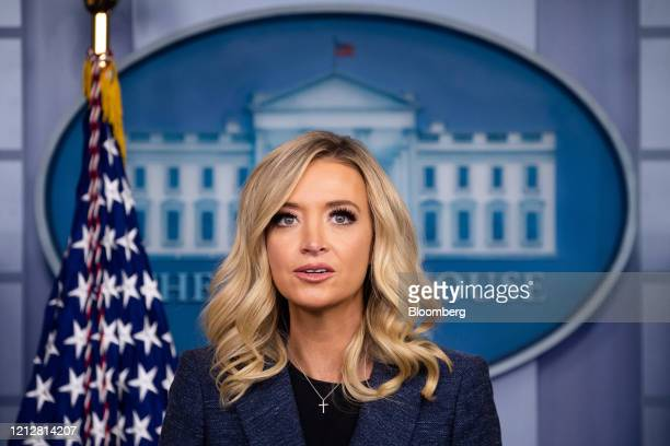 Kayleigh McEnany White House press secretary speaks during a briefing in Washington DC US on Tuesday May 12 2020 McEnany said that Vice...