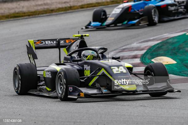 Kaylen Frederick from United States of America of Carlin Buzz Racing, action during Day One of Formula 3 Testing at Circuit de Barcelona - Catalunya...
