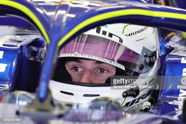 Kaylen Frederick of United States and Carlin prepares to drive during Day Two of Formula 3 Testing at Red Bull Ring on April 04, 2021 in Spielberg,...