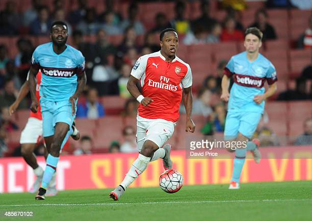 Kaylen Hinds of Arsenal during the match between Arsenal U21 and West Ham United U21 at Emirates Stadium on August 28 2015 in London England