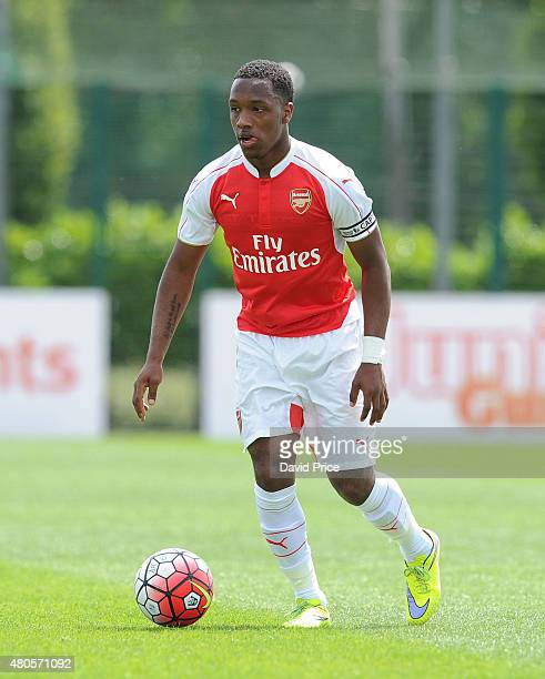 Kaylen Hinds of Arsenal during the pre season friendly match between Arsenal U21 and AFC Bournemouth U21 at London Colney on July 11 2015 in St...