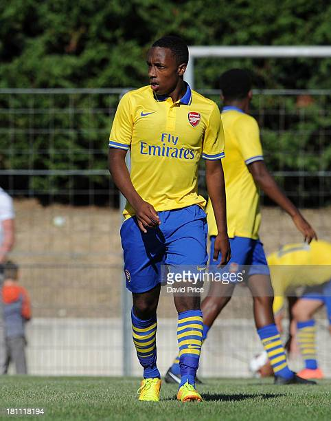 Kaylen Hinds of Arsenal during the UEFA Youth League match between Olympic Marseille U19 and Arsenal U19 on September 18 2013 in Marseille France
