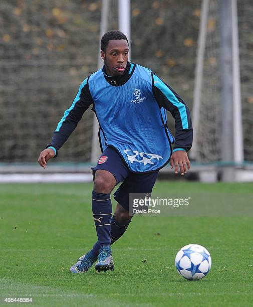 Kaylen Hinds of Arsenal during training session at London Colney on November 3 2015 in St Albans England