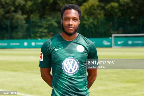 Kaylen Hinds of VfL Wolfsburg poses during the team presentation at VfL Center on July 20 2018 in Wolfsburg Germany