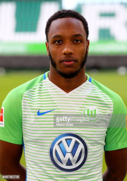 Kaylen Hinds of VfL Wolfsburg poses during the team presentation at on September 13 2017 in Wolfsburg Germany