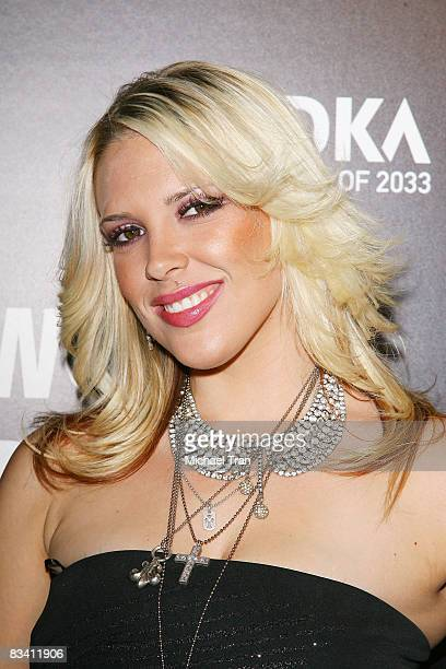 Kayley Gable arrives at the SVEDKA Vodka presents Hollywood DC Lights Camera Election party held at World of Wonder Gallery on October 23 2008 in...