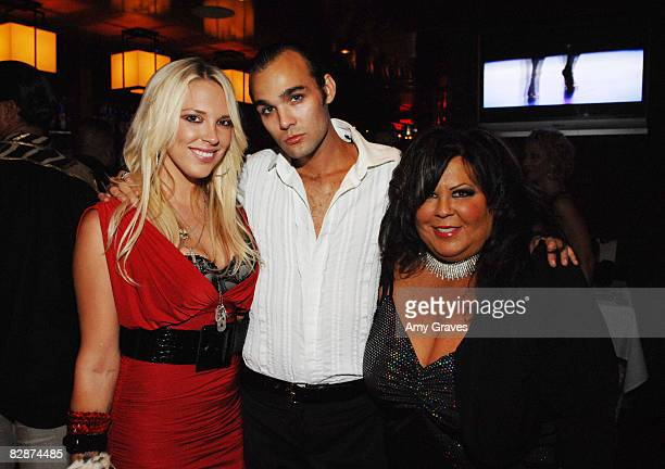 Kayley Gable Reese Albritton and Cher Rue attend Cher Rue's Birthday Party at Club Eleven on July 31 2008 in West Hollywood California
