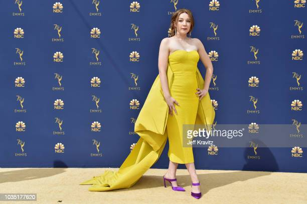 Kayli Carter attends the 70th Emmy Awards at Microsoft Theater on September 17 2018 in Los Angeles California