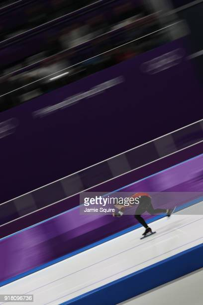 Kaylin Irvine of Canada competes during the Ladies' 1000m Speed Skating on day five of the PyeongChang 2018 Winter Olympics at Gangneung Oval on...
