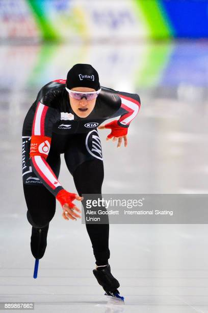 Kaylin Irvine of Canada competes in the ladies 1000 meter final during day 3 of the ISU World Cup Speed Skating event on December 10 2017 in Salt...