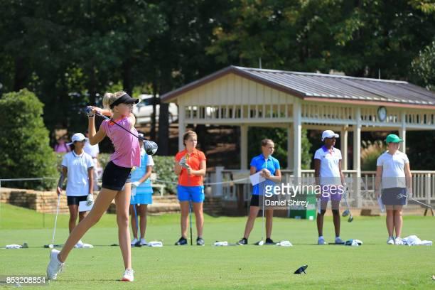 Kaylin Johnson during the Drive Chip and Putt Championship at The Honors Course on September 24 2017 in Ooltewah Tennessee