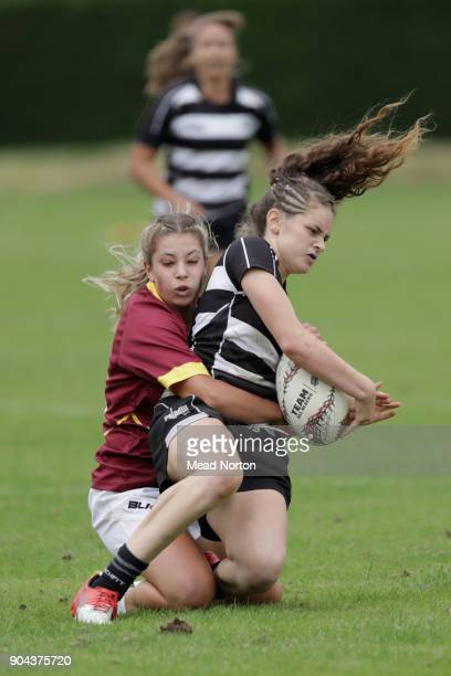 Kayln Takitumu Cook during the Bayleys National Sevens match between HAwkes Bay and Southland at Rotorua International Stadium on January 13 2018 in...