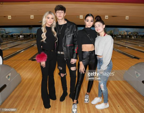 Kaylyn Slevin Tayler Holder and guests attend A Place Called Home's Annual Stars And Strikes Celebrity Bowling And Poker Tournament at PINZ Bowling...