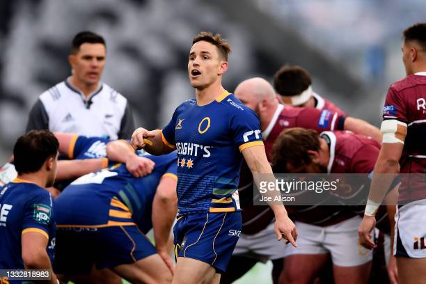Kayne Hammington of Otago looks on during the round one Bunnings NPC match between Otago and Southland at Forsyth Barr Stadium, on August 07 in...