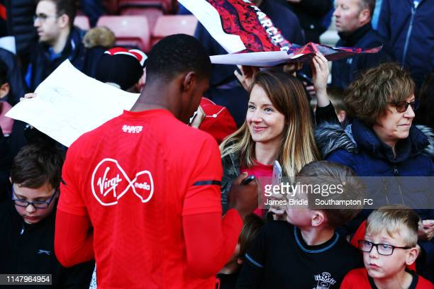 Kayne Ramsay during a Southampton FC open training session at St Mary's Stadium on May 08 2019 in Southampton England