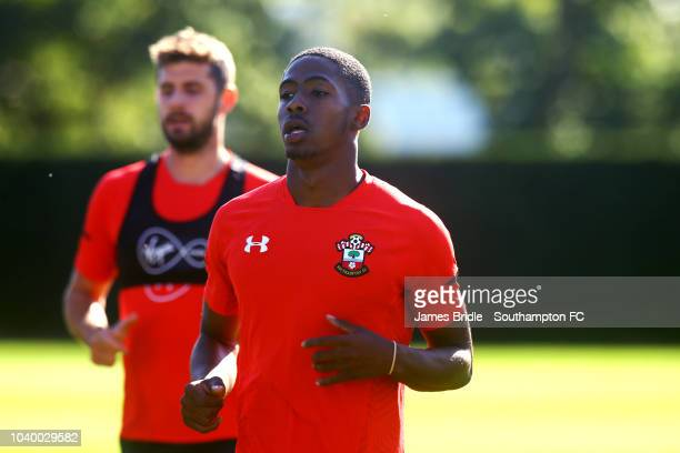 Kayne Ramsay during a Southampton FC training session at Staplewood Complex on September 25 2018 in Southampton England