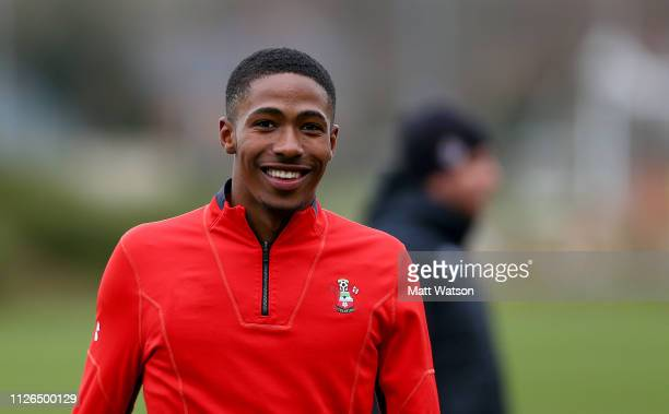 Kayne Ramsay during a Southampton FC training session at the Staplewood Campus on January 31 2019 in Southampton England