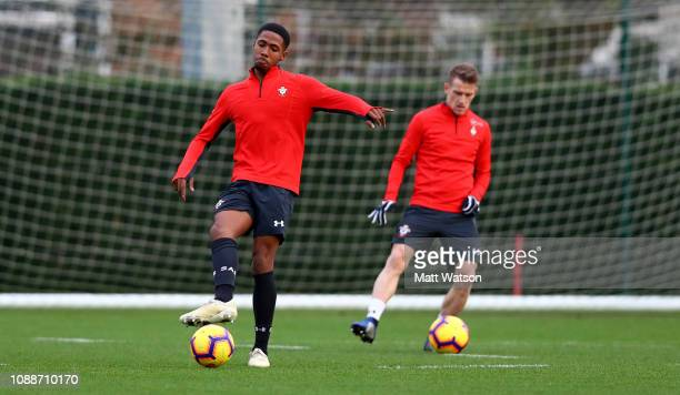 Kayne Ramsay of Southampton during a Southampton FC training session at the Staplewood Campus on January 01 2019 in Southampton England