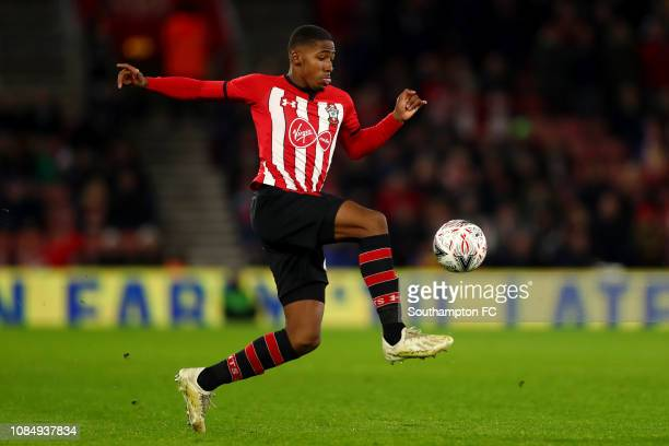 Kayne Ramsay of Southampton in action during the FA Cup Third Round Replay match between Southampton FC and Derby County at St Mary's Stadium on...