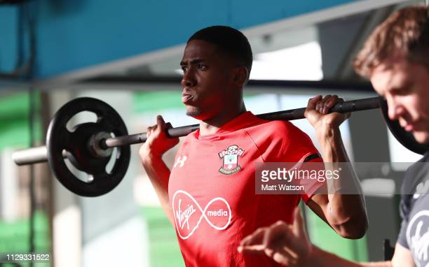 Kayne Ramsay on day 2 of Southampton FC's winter training Camp on February 12 2019 in Tenerife Spain