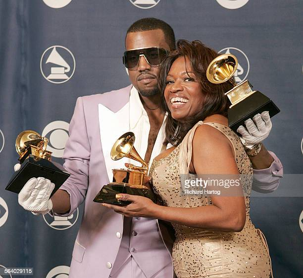 Kayne West with his mother Donda West won three Grammys at the 48th Annual Grammy Awards at the Staples Center in Los Angeles California on Wednesday...