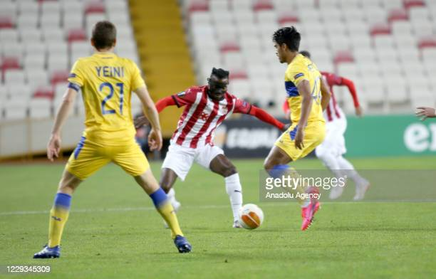 Kayode of Sivasspor in action during UEFA Europa League Group I soccer match between Demir Grup Sivasspor and Maccabi Tel-Aviv at 4 Eylul Stadium on...