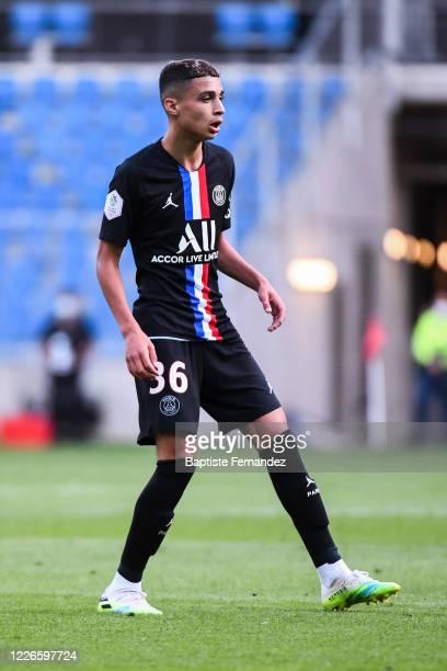 Kays RUIZ ATIL of Paris Saint Germain during the friendly match between HAC Le Havre and Paris Saint Germain at Stade Oceane on July 12 2020 in Le...
