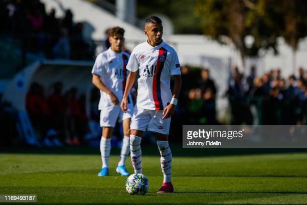 Kays RUIZ ATIL of PSG during the Youth League match between Paris Saint Germain and Real Madrid at Camp des Loges on September 18 2019 in Paris France