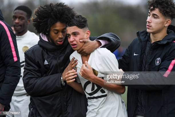 Kays Ruiz of Psg looks dejected during the Cup Gambardella match between Fleury and Paris Saint Germain on January 13 2019 in Fleury France