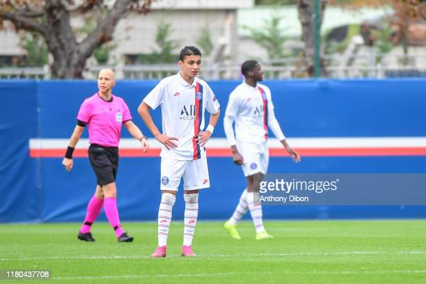 Kays RUIZ of PSG looks dejected during the Youth League match between Paris Saint Germain and Bruges at Camp des Loges on November 6 2019 in Paris...