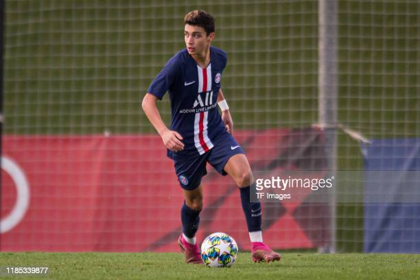 Kays RuizAtil of Paris SaintGermain controls the ball during the match between Real Madrid and Paris SaintGermain on November 26 2019 in Madrid Spain