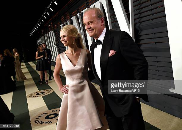 Kayte Walsh and actor Kelsey Grammer attend the 2015 Vanity Fair Oscar Party hosted by Graydon Carter at the Wallis Annenberg Center for the...