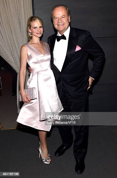 Kayte Walsh and actor Kelsey Grammer attend the 2015 Vanity Fair Oscar Party Viewing Dinner hosted by Graydon Carter at the Wallis Annenberg Center...