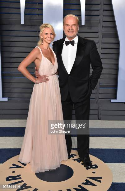 Kayte Walsh and actor Kelsey Grammer attend the 2018 Vanity Fair Oscar Party hosted by Radhika Jones at Wallis Annenberg Center for the Performing...