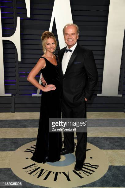 Kayte Walsh and Kelsey Grammer attend 2019 Vanity Fair Oscar Party Hosted By Radhika Jones at Wallis Annenberg Center for the Performing Arts on...