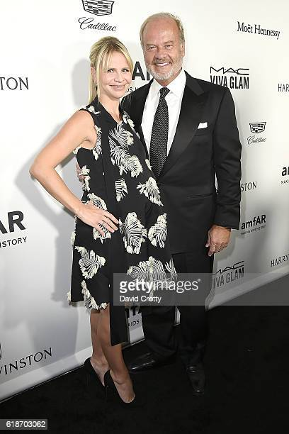 Kayte Walsh and Kelsey Grammer attend amfAR's Inspiration Gala Los Angeles at Milk Studios on October 27 2016 in Los Angeles California
