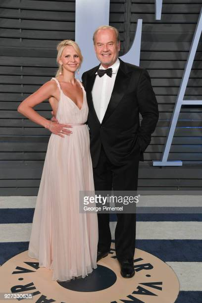 Kayte Walsh and Kelsey Grammer attend the 2018 Vanity Fair Oscar Party hosted by Radhika Jones at Wallis Annenberg Center for the Performing Arts on...